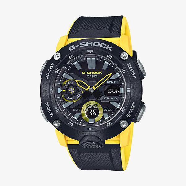 Casio G-Shock Black Dial - Black,Yellow
