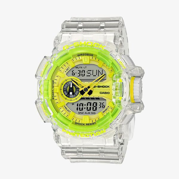 Casio G-Shock Yellow Dial - White