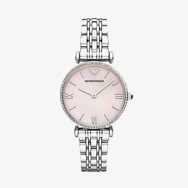 Gianni T-Bar Pink mother of pearl Dial - Silver - AR1781