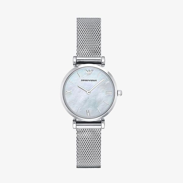 Retro White Mother of Pearl Dial - Silver