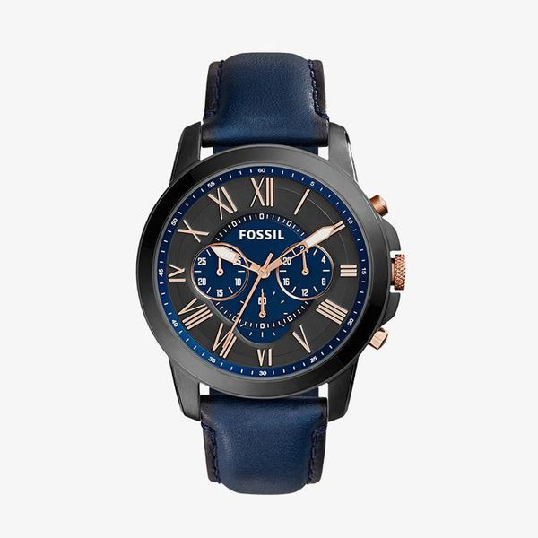 Grant Chronograph Black and Blue Dial - Blue