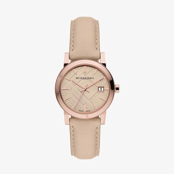 The City Leather Strap - Rose Gold