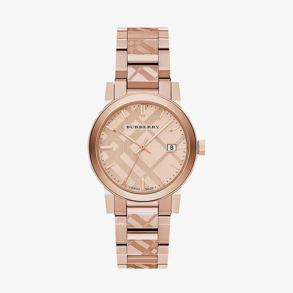 The City Engraved Check - Rose Gold