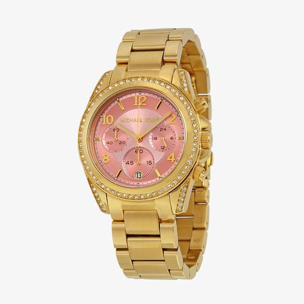 Blair Chronograph Rose Gold Dial - Rose Gold - MK6218