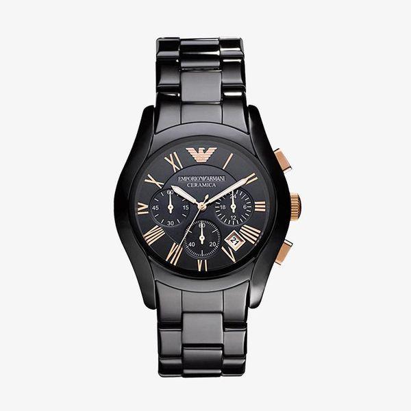 Ceramica Chronograph Black Dial - Black