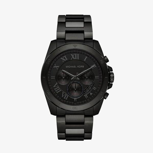 Brecken Chronograph Black Dial - Black - MK8482