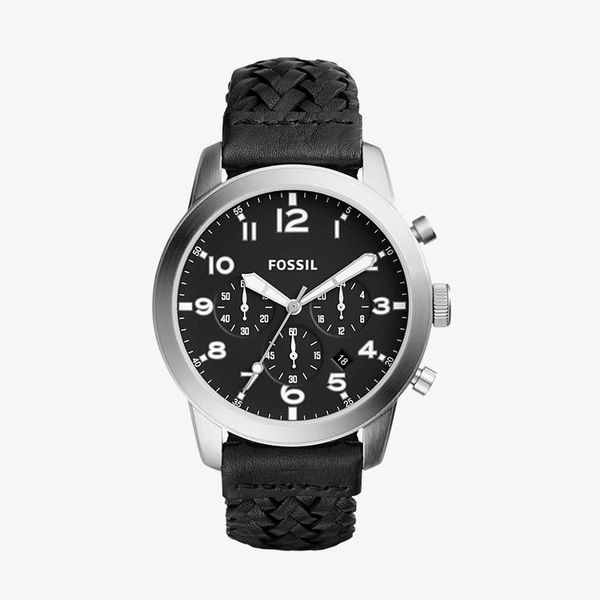 Pilot 54 Black Dial Men's Chronograph - Black - FS5181