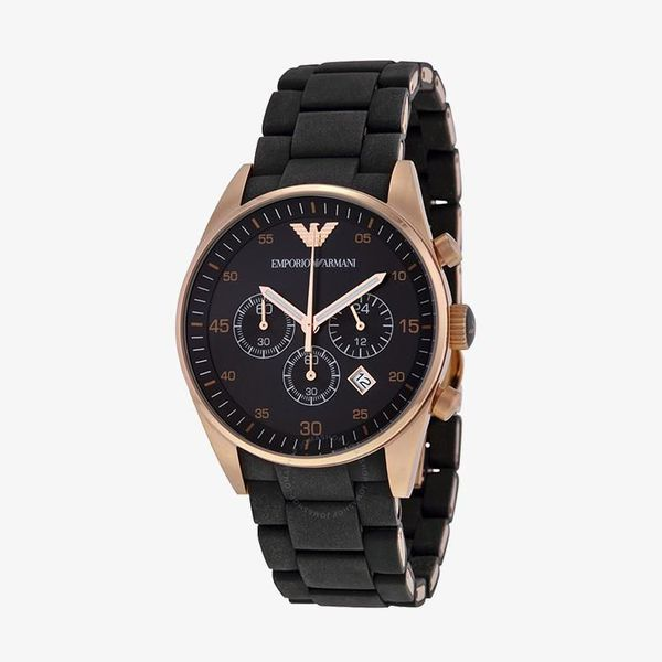 Sportivo Chronograph Black Dial - Rose Gold