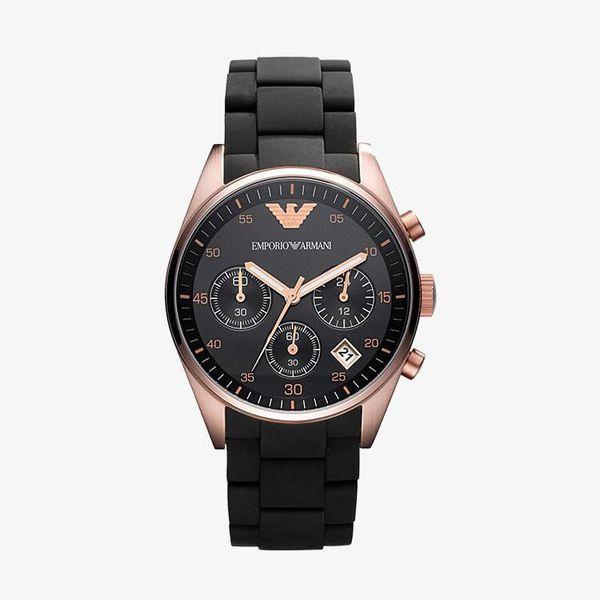 Sportivo Chronograph Black Dial - Black Silicone