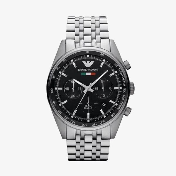 Tazio Chronograph Black Dial - Silver