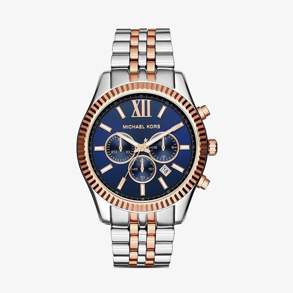Lexington Chronograph Navy Dial - Multi-color - MK8412