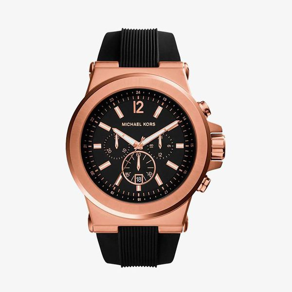 Dylan Chronograph Black Dial - Rose Gold