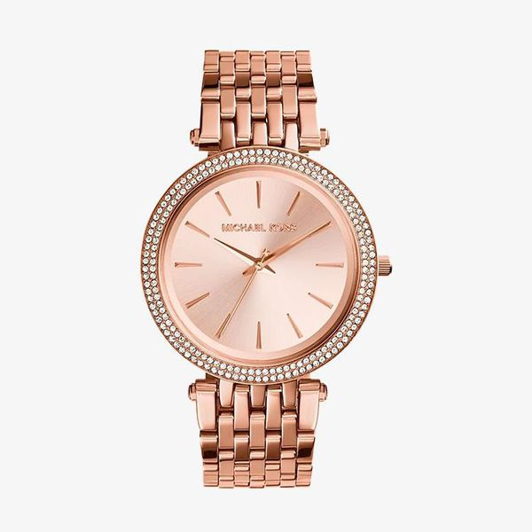Darci Rose Gold Dial Pave Bezel - Rose Gold