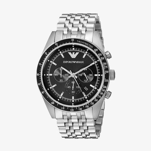Sportivo Chronograph Black Dial - Silver -  AR5988