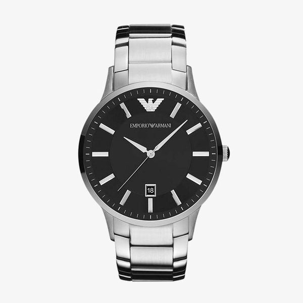 Sportivo Black Dial Stainless Steel - Silver