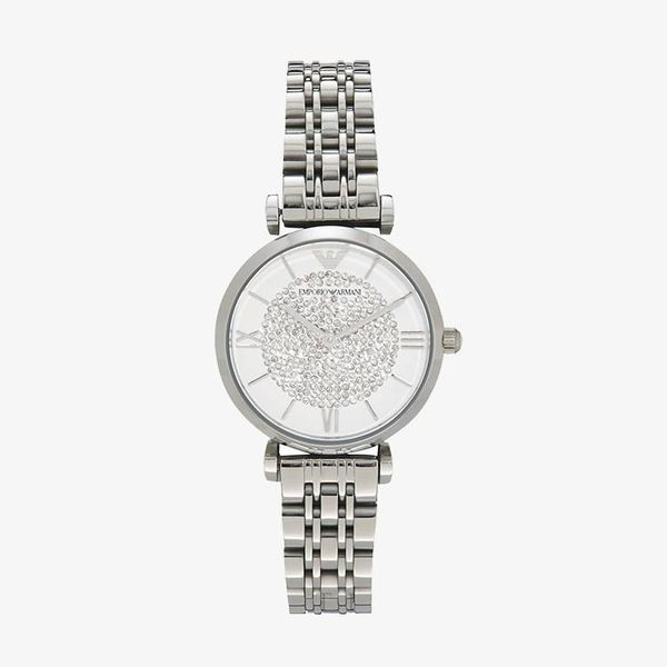 Gianni White Crystal Pave Dial - Silver
