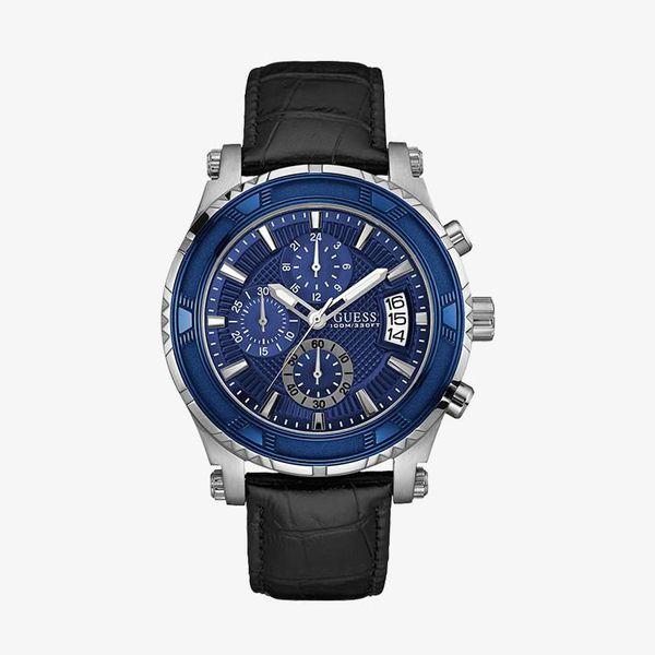 Genuine  Blue Dial - Black - W0673G4