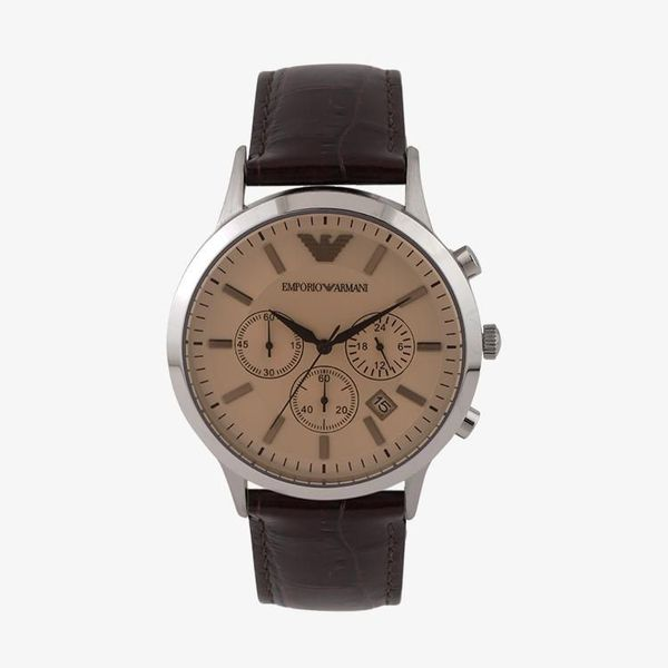 Classic Chronograph Beige Dial - Brown